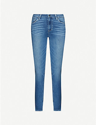 PAIGE: Hoxton cropped skinny faded high-rise jeans