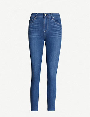 PAIGE Verdugo Crop skinny mid-rise jeans