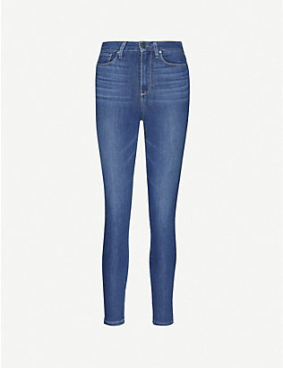 PAIGE: Margot ultra-skinny high-rise cropped jeans