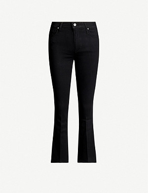 PAIGE Colette cropped high-rise flared stretch-denim jeans