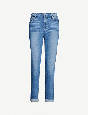 PAIGE Brigitte cropped straight mid-rise jeans
