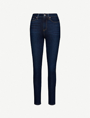 PAIGE Margot skinny high-rise stretch-denim jeans