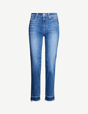 PAIGE Hoxton skinny frayed-hem stretch-denim jeans