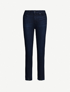 PAIGE Hoxton split-cuff straight high-rise jeans