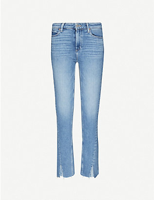PAIGE: Hoxton slim-fit tapered mid-rise jeans