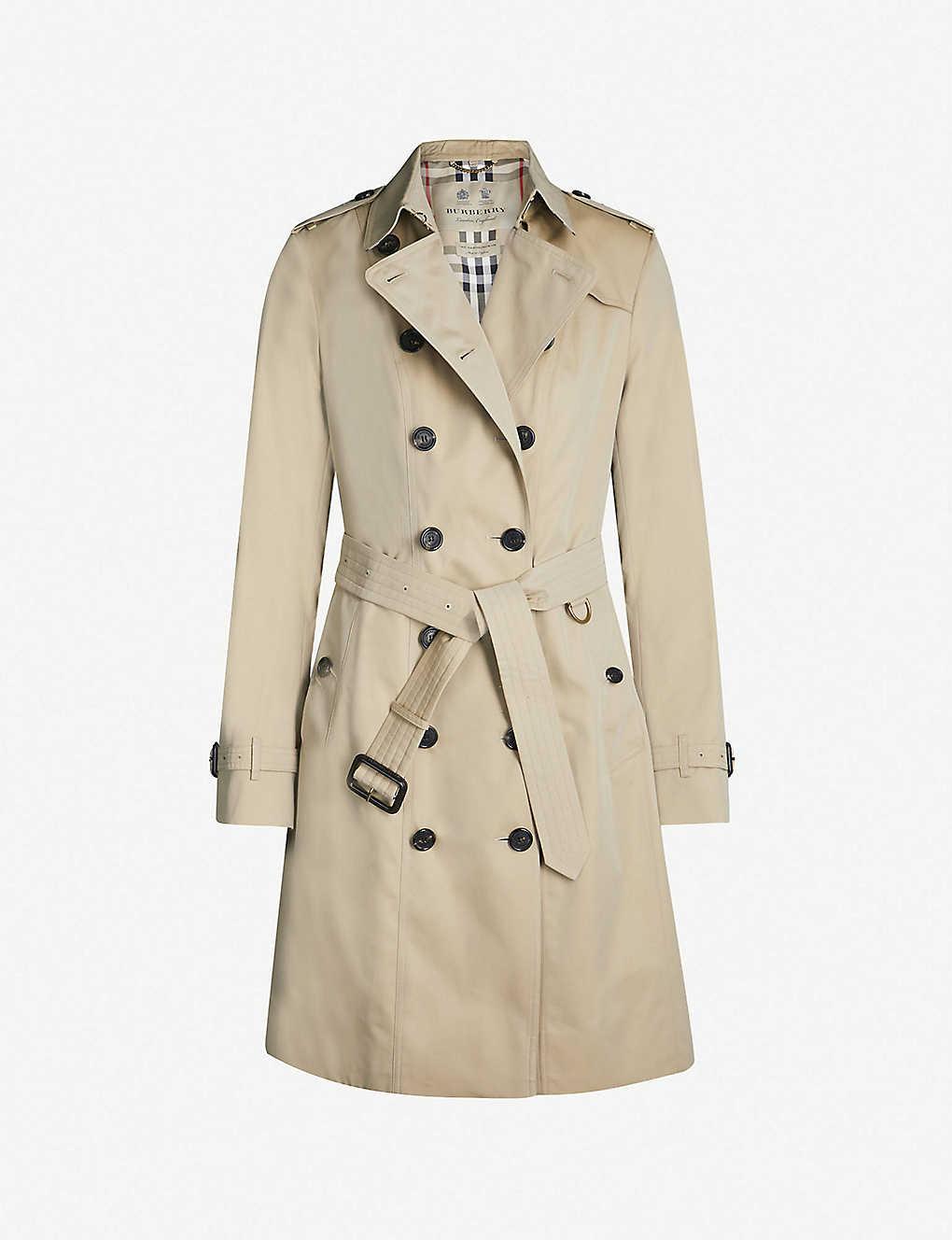 77706fe1 BURBERRY - Sandringham double-breasted cotton-gabardine trench coat ...