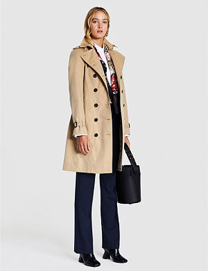 5c0286ed516a BURBERRY Sandringham double-breasted cotton-gabardine trench coat