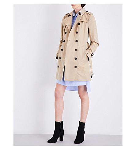 4a67edc53060 Burberry Ladies Light Brown Timeless Sandringham Cotton Trench Coat In Honey