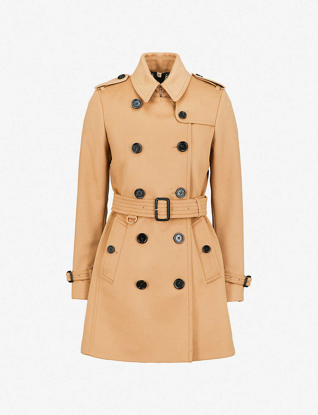 Burberry Coats The Kensington Heritage wool and cashmere-blend coat