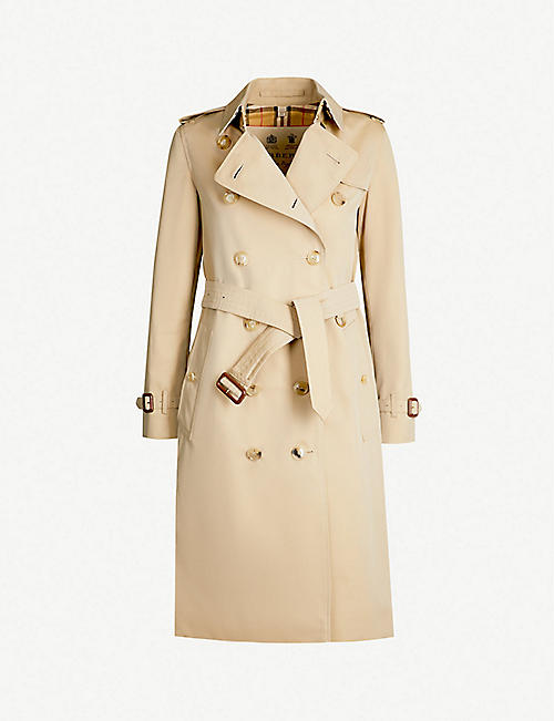 d7b9194cdd105 BURBERRY The Kensington Heritage check-lined cotton-gabardine trench coat