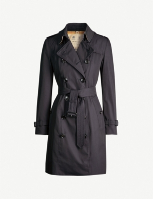 BURBERRY The Chelsea Heritage check-trimmed cotton trench coat