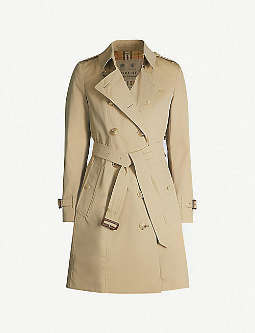 BURBERRY: The Chelsea Heritage cotton-gabardine trench coat