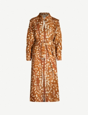 BURBERRY Deer-print shell trench coat