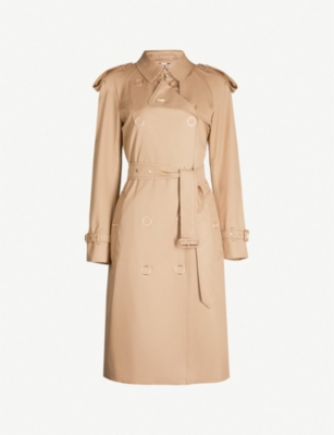 BURBERRY Double-breasted cotton trench coat