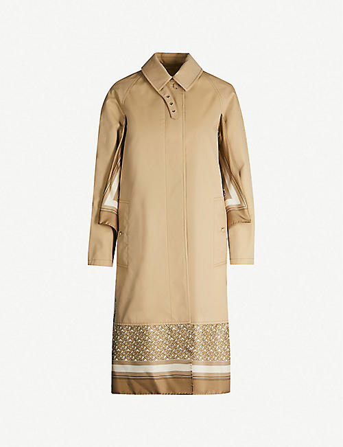 21bd31f61d5 BURBERRY Contrast-layered cotton and silk trench coat