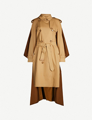 BURBERRY Brand-print slim-fit cotton and cashmere-blend trench coat