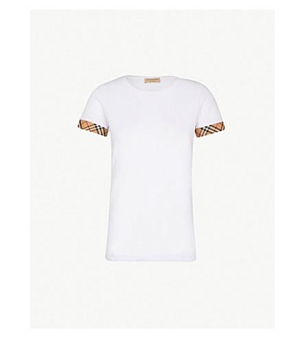 c4fee54dc7 BURBERRY Kabini stretch-cotton T-shirt (White