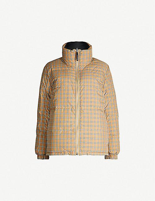 0e259d2cbd24 BURBERRY Reddich House check shell and down-blend puffer jacket
