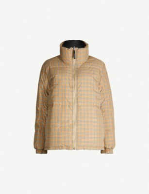 BURBERRY Reddich House check shell and down-blend puffer jacket