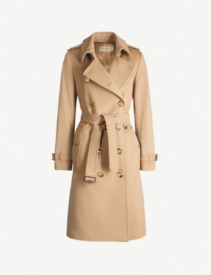 BURBERRY The Kensington Heritage long cotton trench coat