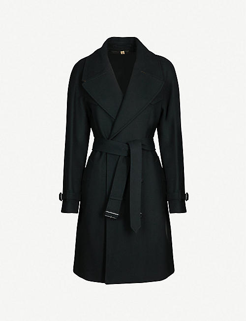 8150fe9c978 BURBERRY Cranston double-breasted wool-blend trench coat