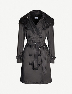 BURBERRY Kensington double-breasted woven trench coat