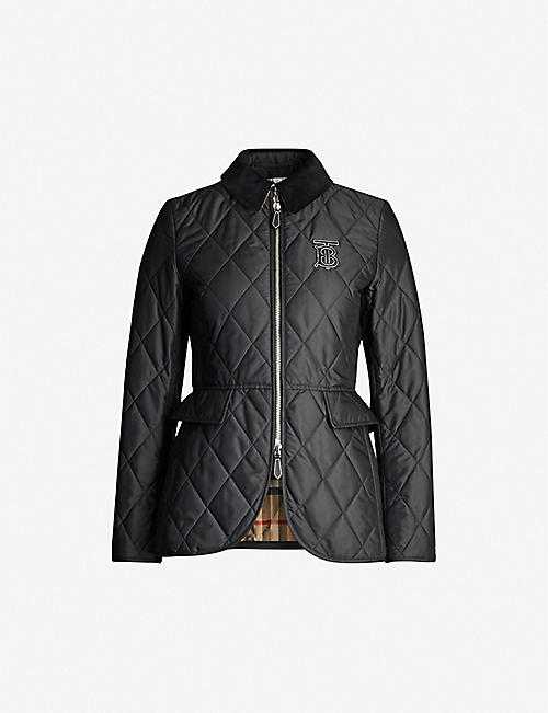 ae87742bb4d09a BURBERRY Ongar contrast-collar quilted shell jacket