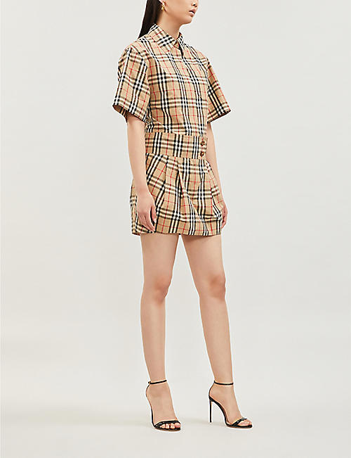 BURBERRY Vintage-check cotton-poplin shirt dress