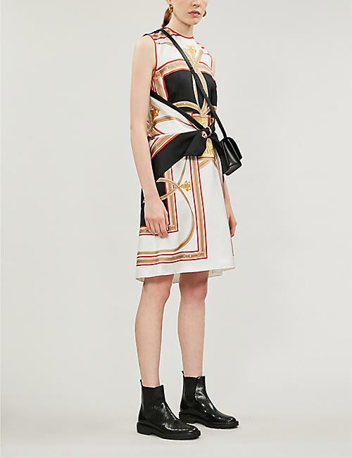 BURBERRY Scarf-print silk-twill mini dress
