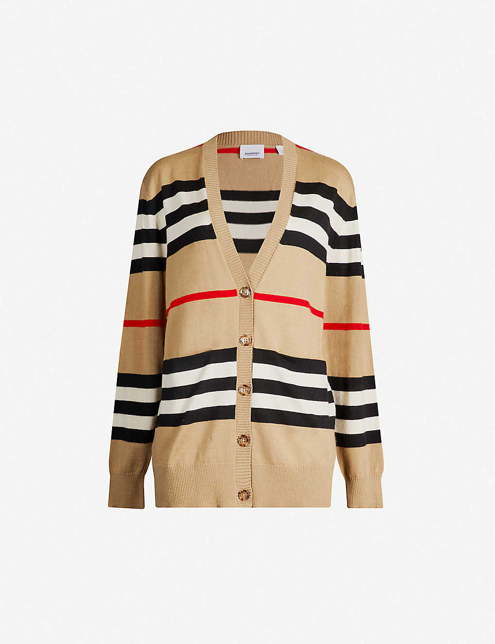BURBERRY: Icon Stripe merino-wool cardigan