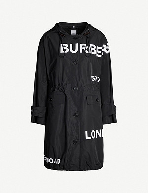 BURBERRY Horseferry logo-print shell hooded parka jacket