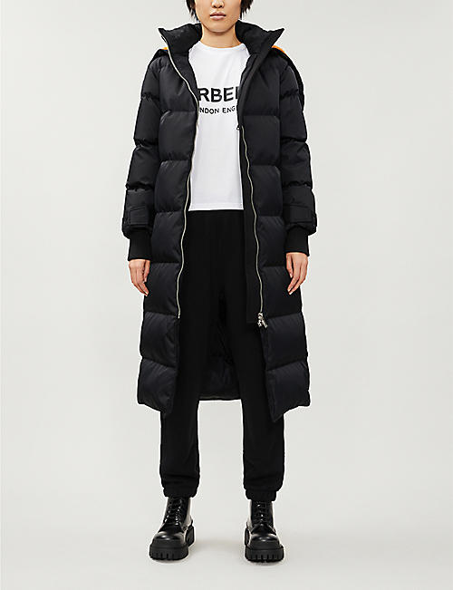 BURBERRY Clovenstone logo-print shell-down coat