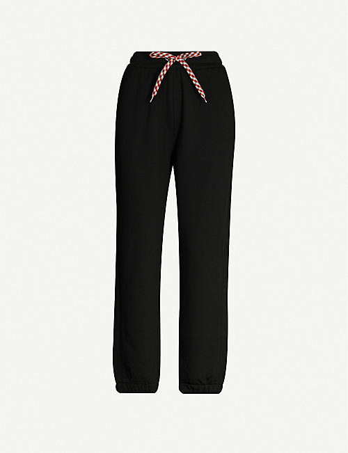 BURBERRY Raine mid-rise tapered cotton-jersey jogging bottoms