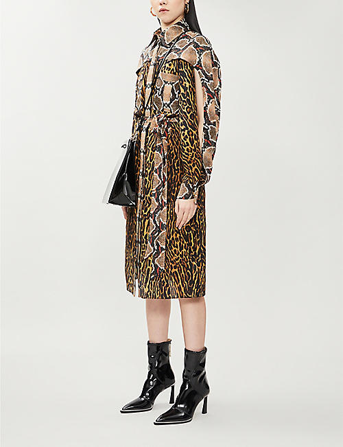 BURBERRY Costanza leopard-print silk midi dress