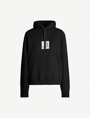 BURBERRY Junnie deer-print cotton-jersey hoody