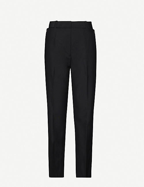BURBERRY: Zohra wide-leg high-rise wool-blend trousers