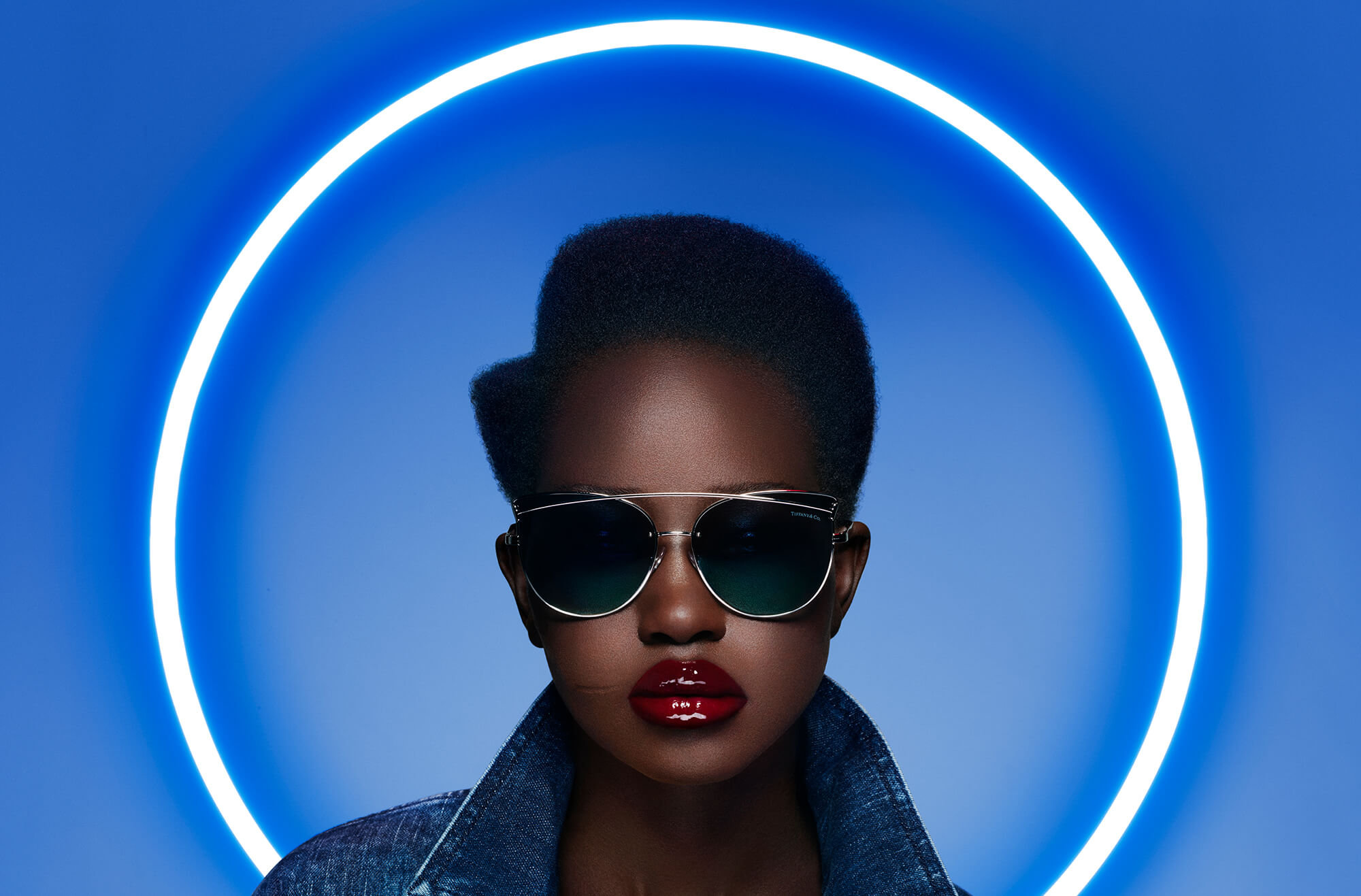 c8b8c3be699a sunglasses   Givenchy - jacket (coming soon)   PAT McGRATH LABS -  LuxeTrance Lipstick