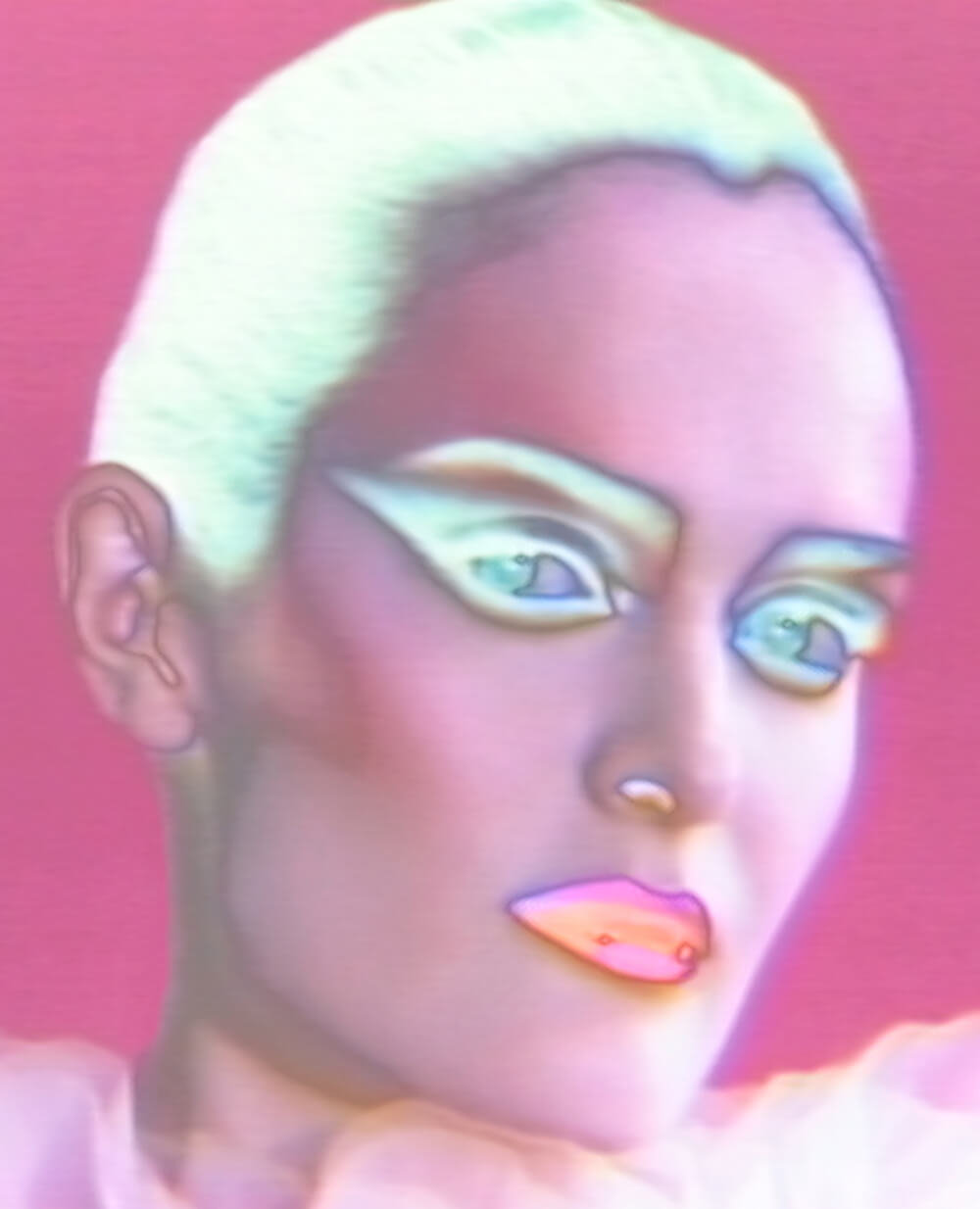 fd56a3ab259 Hannah Motler wears PAT McGRATH LABS – Mothership I Eyeshadow Palette  Subliminal, PermaGel Ultra Glide Eye Pencil, Perma Precision Liquid Eyeliner,  ...