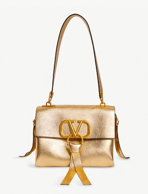 Valentino gold shoulder bag