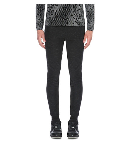 16Cm Viscose & Wool Gabardine Pants, Black, Black White