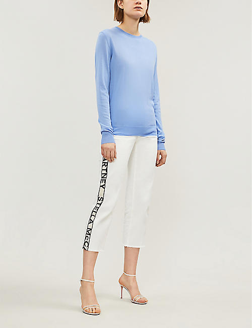STELLA MCCARTNEY Round-neck wool jumper