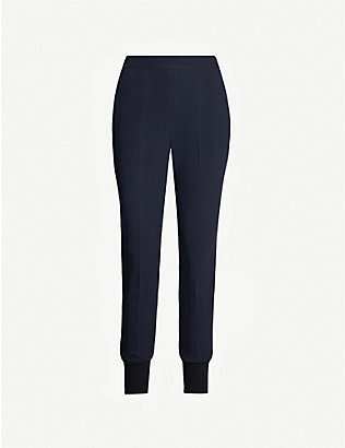 STELLA MCCARTNEY: Julia high-rise tapered crepe trousers