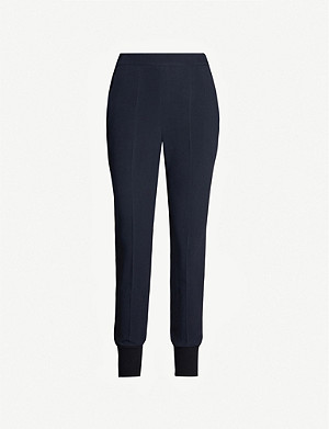 STELLA MCCARTNEY Julia high-rise tapered crepe trousers
