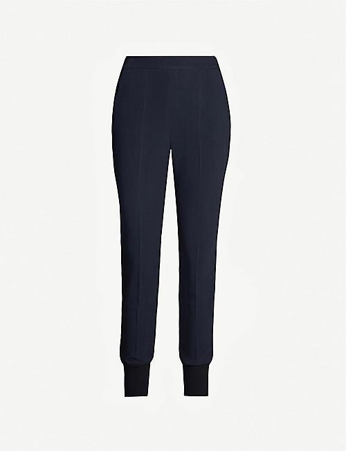 f1b63c295259 STELLA MCCARTNEY Julia high-rise tapered crepe trousers