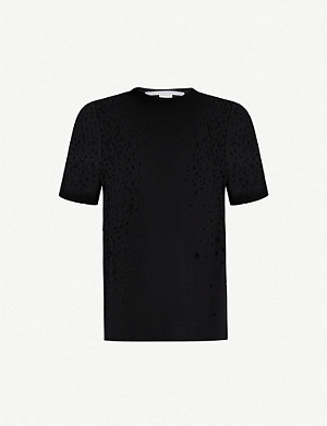 STELLA MCCARTNEY Star cutout cotton-jersey T-shirt