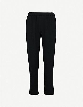 STELLA MCCARTNEY: Tamara low-rise stretch-crepe tapered trousers