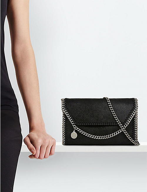 STELLA MCCARTNEY Falabella faux-suede cross-body bag