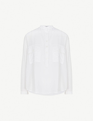 STELLA MCCARTNEY Estelle silk-crepe shirt