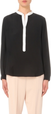 STELLA MCCARTNEY Contrast-placket silk shirt