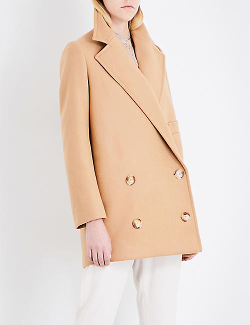 955ece8c202d STELLA MCCARTNEY Double-breasted wool-blend coat